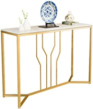 Console Table,Iron Art Against The Wall Living Room Entrance Cabinet Marble Slim Entry Table for Hallway Foyer Sofa 30 × 1...