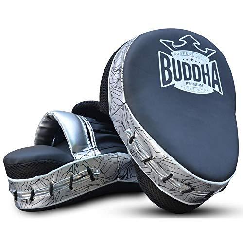 Manoplas de Boxeo Curvadas Buddha Premium Negras (Precio Par)