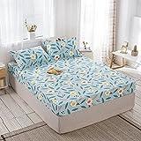 FJMLAY Sábanas ajustablesperfecto para el colchón, sensación Suave,Sábanas Ajustables de Cama de algodón, Almohadillas...