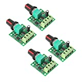 YWSHF 4Pcs PWM Low Voltage Motor Speed Controller DC 1.8v 3v 5v 6v 12v 2A 30W 1803BK Adjustable Driver Switch