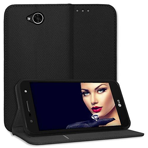 mtb more energy® Schutz-Tasche Bookstyle für LG X Power 2 (M320N, 5.5'') - schwarz - Kunstleder - Klapp-Cover Hülle Hülle