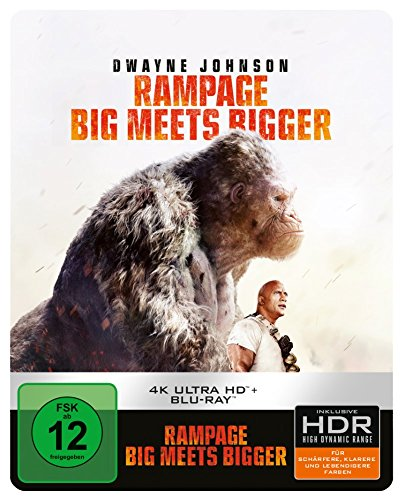 Rampage: Big Meets Bigger 4K Ultra HD Steelbook [Blu-ray] [Limited Edition]