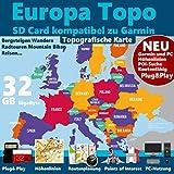 Europa ★ Profi Outdoor Topo Karte ★ Topografische Europakarte kompatibel zu Garmin Navigation ★ Oregon 600, Oregon 600t, Oregon 650, Oregon 650t, Oregon 700, Oregon 750, Oregon 750t
