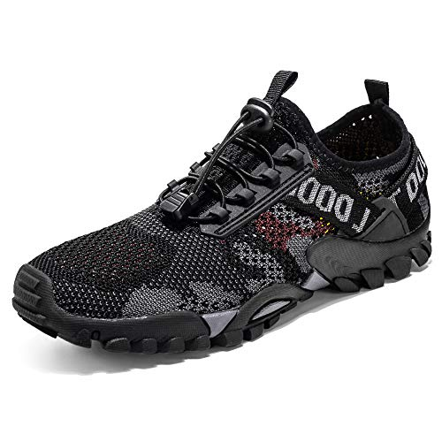DIQUEQI Trail Running Shoes for Men Womens Barefoot & Minimalist Shoe Outdoor Hiking Water shoes Trekking Lightweight sports Shoes Camping Breathable Walking shoes Low Top Non-Slip Sneakers