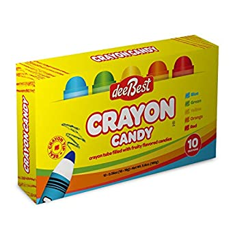 Back To School Crayon Tube Filled with Fruity Flavored Candy - 10 Crayons