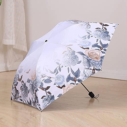 Ziayai Sombrilla de sol, protección solar, protección UV, sombra completa, paraguas de goma negra, paraguas pequeño, pequeño, fresco, 3 descuentos en paraguas soleado y lluvioso