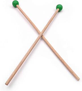Bulufree 1 par profesional xilófono Marimba mazo baquetas piezas de percusión longitud 365 mm