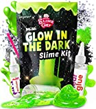 Mini Glow in the Dark Slime Kit - the perfect neon green slime making kit for girls ages 7 12! Neon Slime Kit Starter Pack - Everything you need slime making kit complete slime kits for boys. Enjoy the best glowing neon slime glow in the dark kids re...