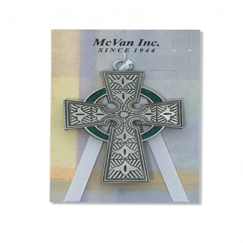 Pewter Celtic Crib Cross (McVan 147-44) - Carded