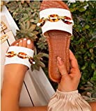 FFYN Sandalias de Verano con Punta Abierta de Piel sintética para Mujer Sandalias Planas de Playa para Mujer Sandalias de cuña Zapatos Sandalias cómodas para Caminar Sandalias de Mula l