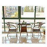 HLZY Muebles de Vida al Aire Libre Rattan Jardín de Muebles Muebles de terraza Muebles de jardín Muebles de jardín ratán Liquidación Patio Conservatorio Mesa de café al Aire Libre Patio Conversación