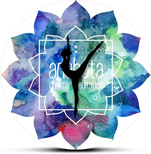 Reloj De Pared Reloj De Pared Diseño Chakra Agujas De Yoga Reloj De Pared Impreso Meditación Pintura De Acuarela Patrón De Mandala Arte Reloj Colgante De Pared Adecuado Para Sala De Estar