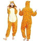 AdorabFitting Pijama para Mujer Diseño De Animales Ropa De Casa para Dormir De Una Pieza, Disfraz De Cosplay para Fiesta Naranja Tigre