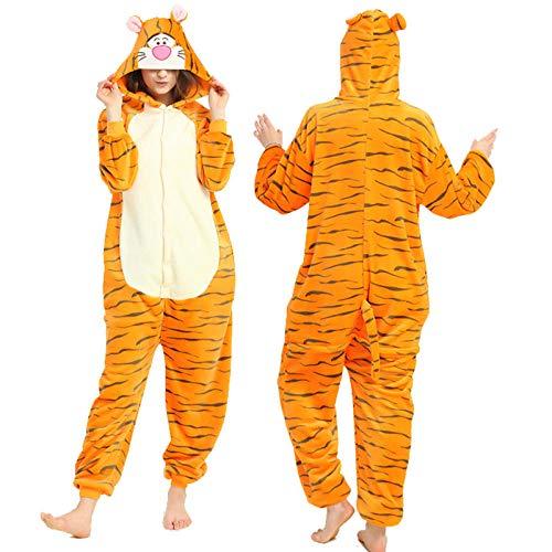 Disfraz De Carnaval para Adultos Vestido De Cosplay Naranja Tigre