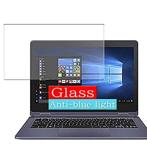 VacFun Filtro Luz Azul Vidrio Templado Protector de Pantalla para Asus VivoBook Flip 12 TP202NA N3350 2018 11.6' Visible Area, 9H Cristal Screen Protector Anti Blue Light Filter(cobertura no completa)