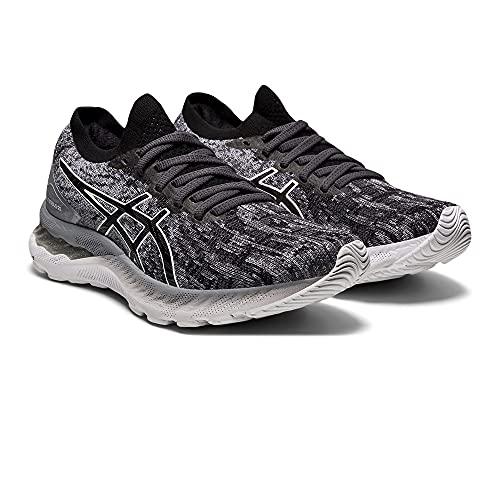 Asics Gel-Nimbus 23 Knit, Road Running Shoe Mujer, Sheet Rock/Black, 37 EU