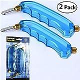 Paquete de 2 cortadores de cristal con mango tipo pistola, ideal para cortar y rayar botellas de cristal, espejos, ventanas, estantes y más