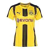 PUMA Damen Trikot BVB Home Replica Shirt with Sponsor Logo, cyber yellow-Black, L