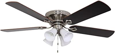 Brookhurst 52 In Indoor White Ceiling Fan Amazon Com
