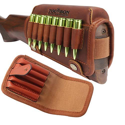 TOURBON Rifle Shell Holder Buttstock Cheek Pad and Belt Ammo Carrier Holder