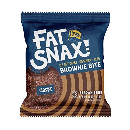 Fat Snax Keto Brownie Bites - Low Carb Brownies Packed With Fats - Sugar-Free & Gluten-Free Brownies - Great Tasting Keto Snacks - 16 Brownie Bites