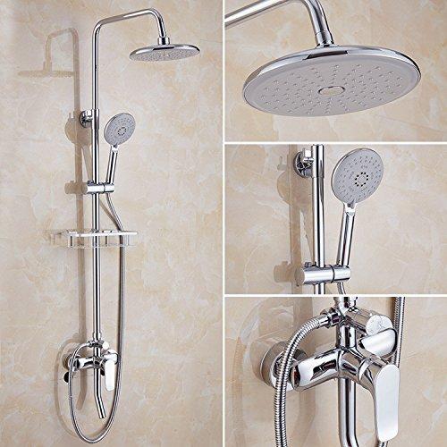 Colonne de Douchedouche robinet douche placage cuivre corps douche bain multi fonction douche douche