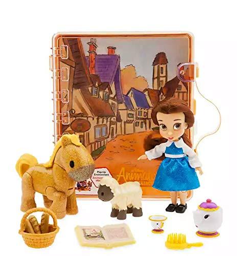 Disney Juguete Oficial Beauty & The Beast Belle Mini Doll Animator Playset