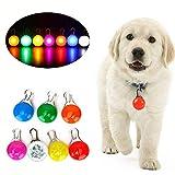 Wodondog Collar LED Gatos Perro, Luz Collar Luminoso Perro 7 Luces de Colores de Seguridad Luminoso Impermeable para...