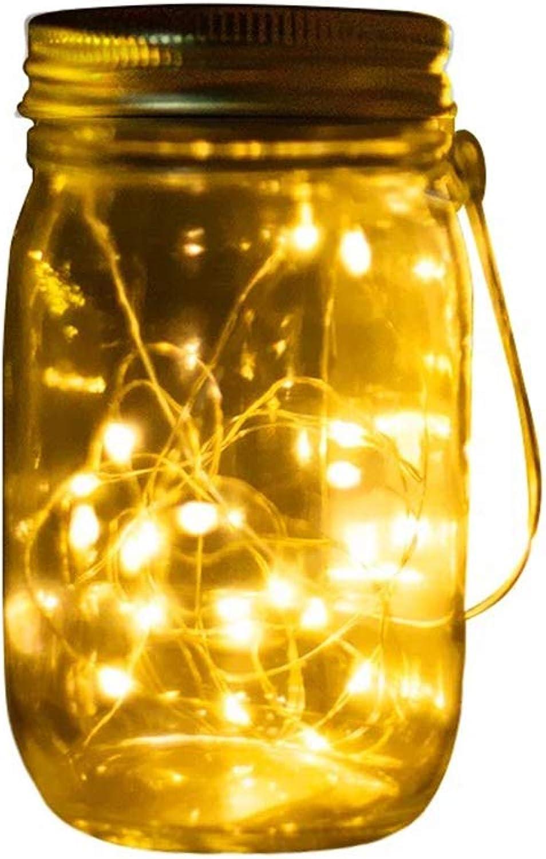 Solar Mason Kann Hell LED  10 Wasserdichte Outdoor 8  20Cm Korridor Hochzeitsdekoration Warm Weiß Light Rasen Smart Light Control Feuer Mrchengarten