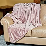 Outrageously Soft Convertible Cozee Blanket and Pillow - 2 in 1 Throw and Pillow - 60 x 70 Inches - Mauve