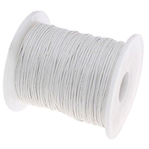 My-Bead coton ciré Ø 1 mm 90 m cordon ciré tressé blanc qualité AAA pour la création de bijoux DIY