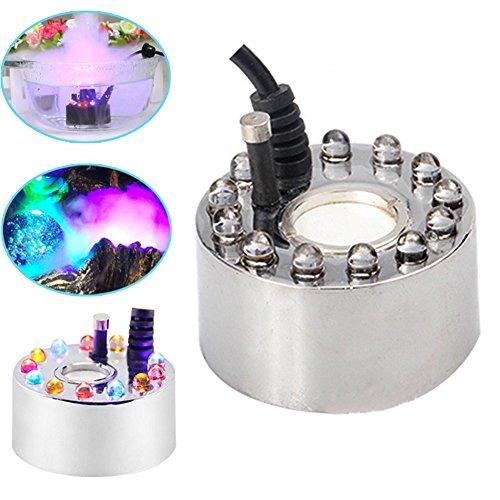 Espeedy Atomizzatore ad ultrasuoni a 12 lampade, atomizzatore, atomizzatore per fontana per laghetto, può essere utilizzato in acquari, lavandini