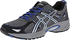 Outdoor-ready runner with mesh and brushstroke-patterned underlays Rearfoot GEL cushioning Removable sockliner accommodates medical orthotics Trail-specific outsole with reversed traction lugs AHAR outsole rubber in critical high-wear areas