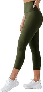 High Waisted Capri Leggings for Women - Tummy Control Soft Elastic Opaque Slim - Regular & Plus Size