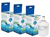 3 x Aqualogis AL-093G Compatible Filtro Per per Frigoriferi Americani Samsung DA29-00003G