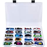 Adam Toy Storage Organizer for Hot Wheels 20 Car Gift Pack, Mini Collection, The Ultimate Starter Set, Collector/ Fast/ Race Car, Carrying Case Container