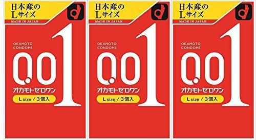 Okamoto Zero One L size 3 pieces × 3 boxes