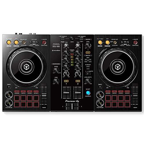 DJDKZQ DJ Controller Zwei-Kanal, Vier-Deck-Upgrade MIDI-Controller, Disc-Audio-Mischpult, Mixer, Elektronische Musik Ausrüstung Pads, Nachtclub Party Stage