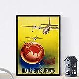 Vintage Poster Nacnic. Vintage Plakatwerbung. AIRLINE