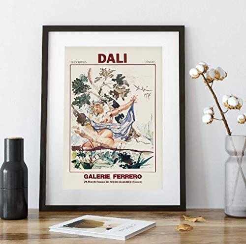 JYSHC Impresion En Lienzo Artista Salvador Dali (Salvador Dali) Cuadro De Arte De Pared Abstracto Cuadro De Lienzo De Periodico Decoracion del Hogar Mq9Ht 40X60Cm Sin Marco