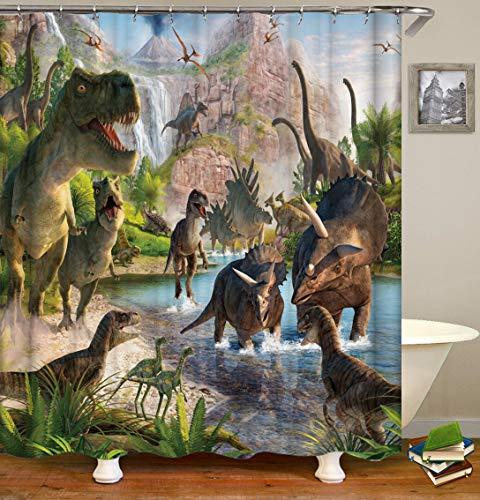 N/A Jurassic Dinosaur World Green Impreso Prueba Moho