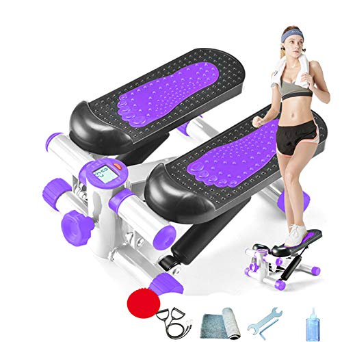 Thole Silent Hydraulic Stepper Body Slimming Legs Shaping Home Fitness Stepper Männer Fitnessstudio Workout Draw Cord Steppers für Frauen,Purple