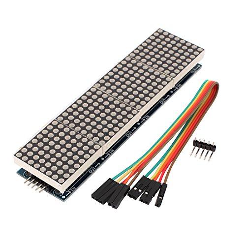 Aexit Tarjeta de módulo de pantalla LED azul de pantalla de matriz de puntos de 8 x 32 puntos con cable (82009d7e1e5f487939a2d0f77c578c63)