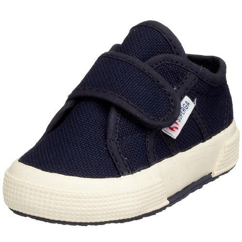 Superga 2750 Bvel, Unisex Kinder Sneakers, Blau/933 Navy, 18 EU