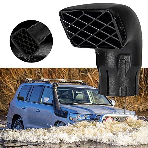 JHCHAN Presa d'aria 3.0 pollici Car Mudding Snorkel Testa di ricambio Collettore di polveri Presa d'aria Universale per fuoristrada pickup 4 × 4 camion ranger wildtrak