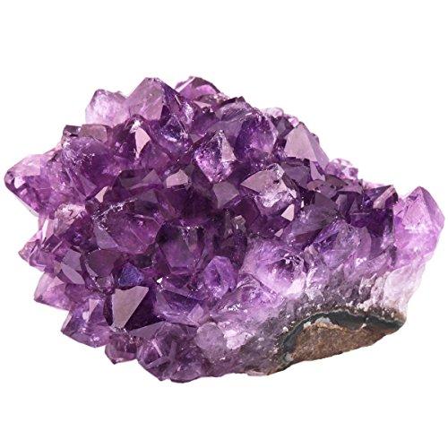 rockcloud Géode de cristal de quartz améthyste naturelle violette pour décoration de la maison