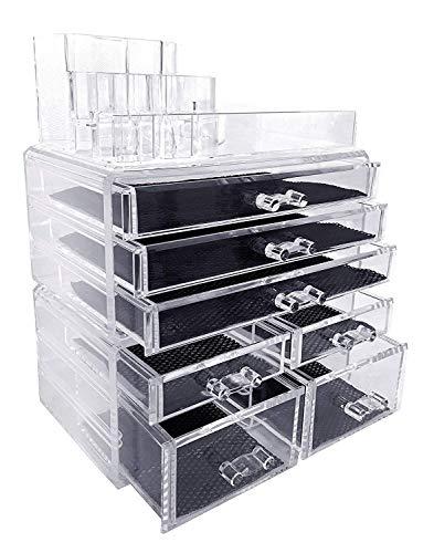 Makeup Organizer, Make up Organizers and Storage Box,Cosmetic Organizer Drawers, Two Pieces Set