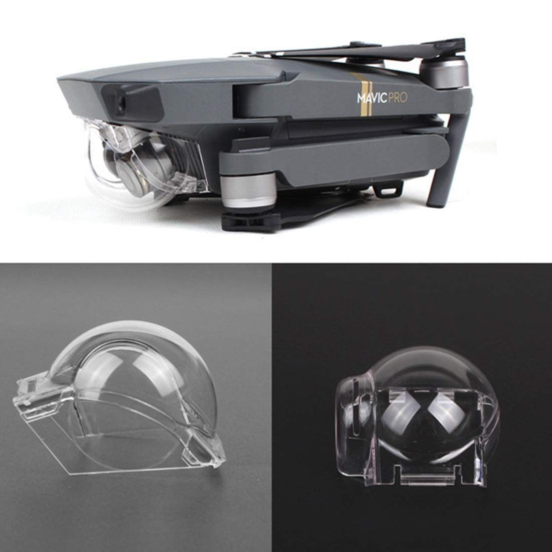 Color : Color3 CAOMING Gimbal PTZ ND4 Dimming Protective Case Camera Lens Cover for DJI Mavic Pro Durable