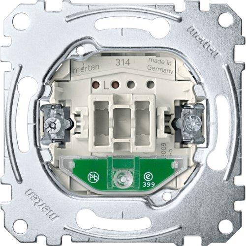 Merten MEG3136-0000 Aus/Wechselschalter-Eins. mit Orientierungslicht, 1-polig, 10 AX, AC 250 V, StK