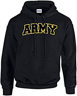 Trenz Shirt Company Army Embroidered Applique Adult Hooded Sweatshirt